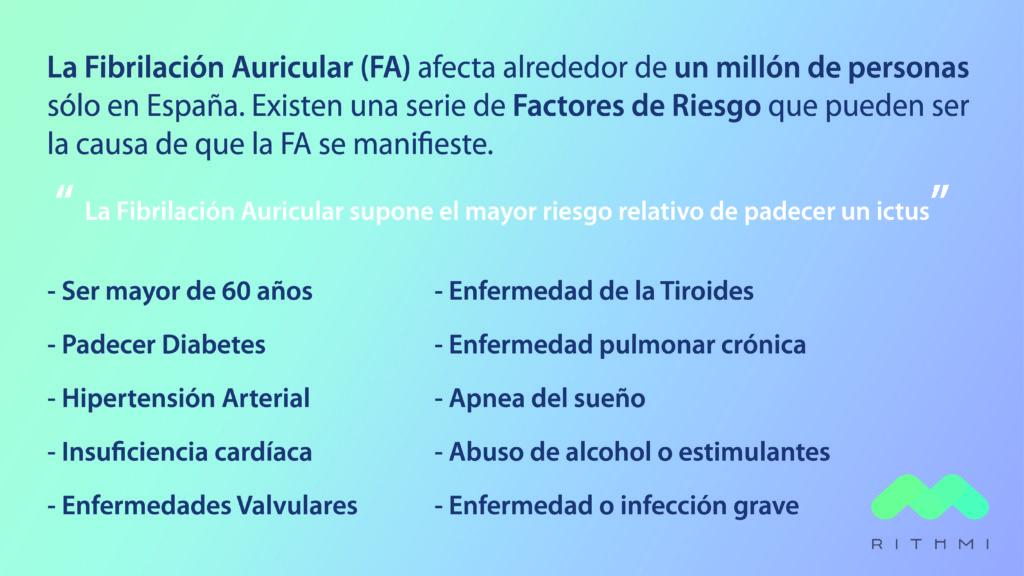 la fibrilación auricular u los factores de riesgo ictus Rithmi