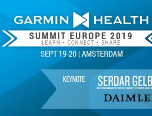 Rithmi asistirá al «Garmin Health Summit 2019» en Amsterdam