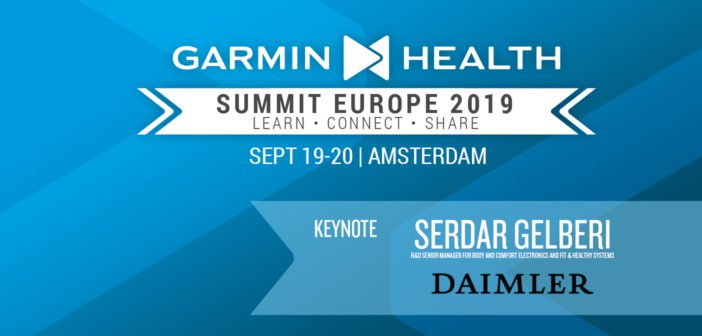 Garmin Health Summit 2019 Amsterdam