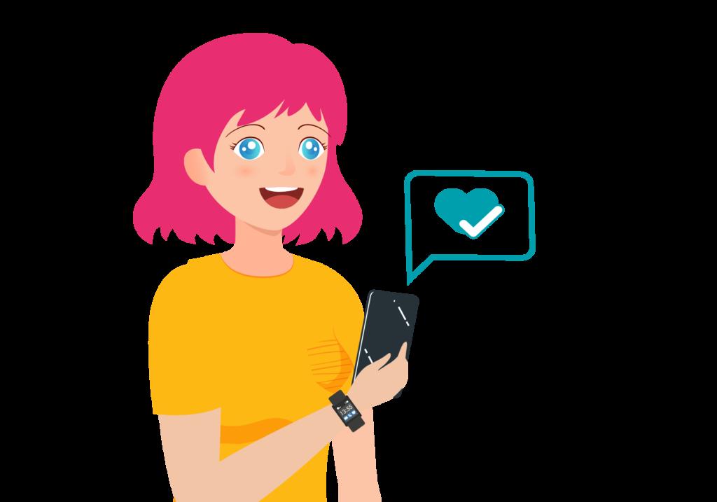 Rithmi te avisa directamente en tu teléfono cuando aparece alguna posible arritmia