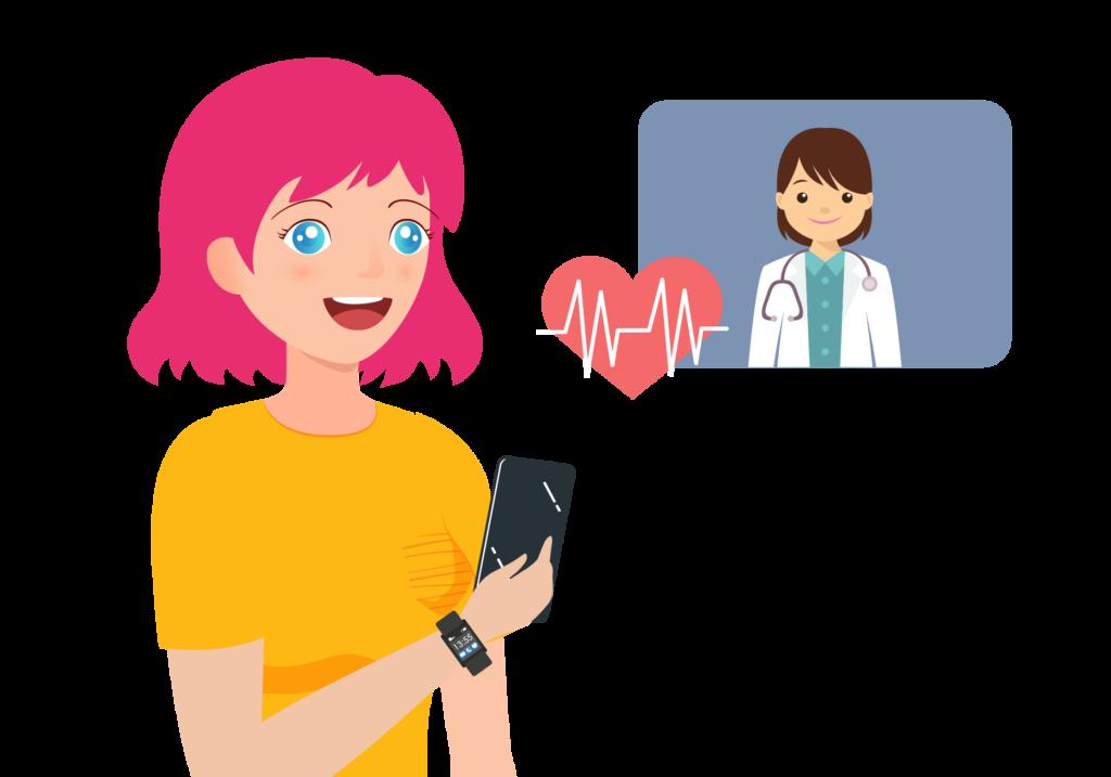 Con Rithm, podrás compartir los resultados de tus pruebas con un familiar y directamente con tu médico.