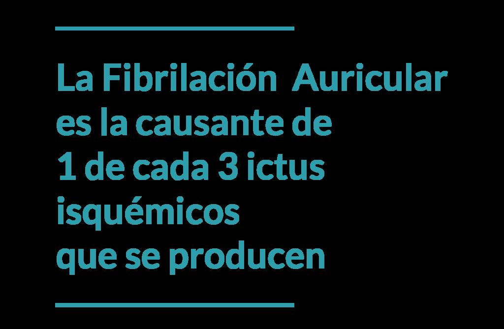 La fibrilación auricular es la causante de 1 de cada 3 ictus isquémicos que se producen