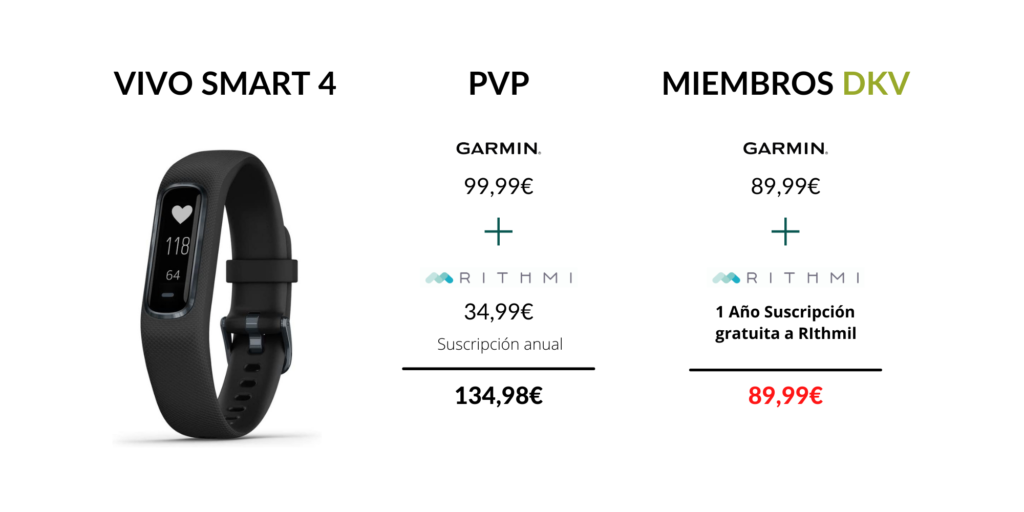 Modelo Vivo Smart 4 Garmin oferta DKV
