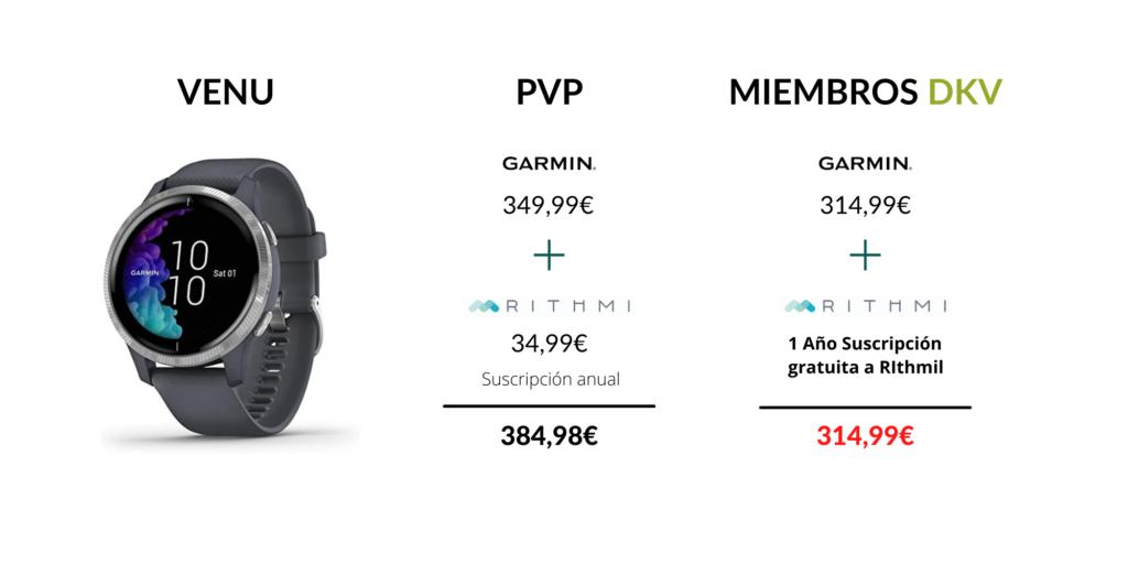 Modelos Garmin oferta DKV